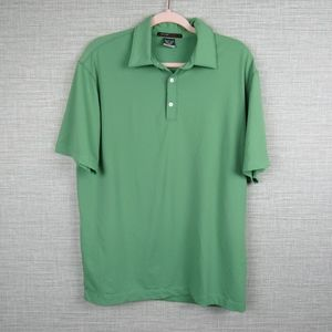 Nike Sz M Tiger Woods Mens Green Dri-fit Golf Polo